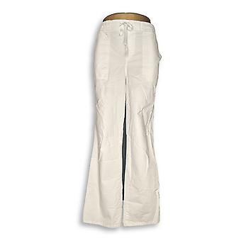 Martha Stewart Women's Pants Stretch Canvas Pull-On White A309315