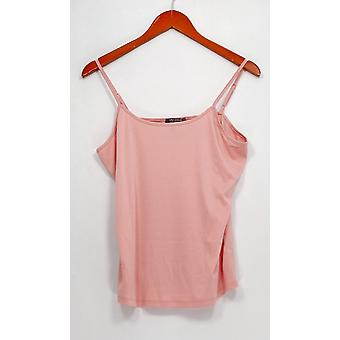 Lisa Rinna collectie top hemd zachte Rose Tan roze A303168