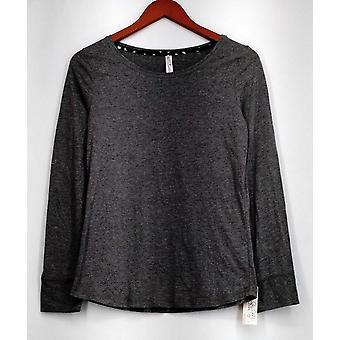 Gilligan & O'Malley Top Knit Long Sleeve Basic Tee Gray Womens
