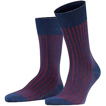 Falke Shadow Socken - Denim Blau/Rot