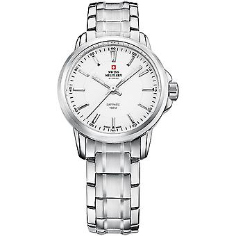 Swiss Military Swiss Quartz Analog Woman Watch with SM34040.02 Stainless Steel Bracelet