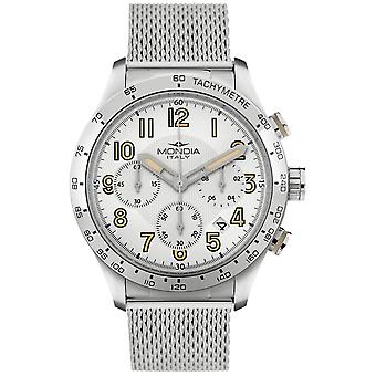 Mondia Trepidde Chrono Japanese Quartz Analog Man Watch with MI757-1BM Stainless Steel Bracelet