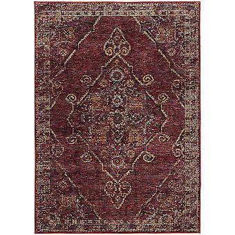 Andorra 7135e red/ gold indoor area rug rectangle 3'3