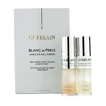 Guerlain Blanc de Perle valkoinen P.e.a.r.l. Fusion valkaisuun päivä & amp; Yöhoito-2x15ml/0.5 oz