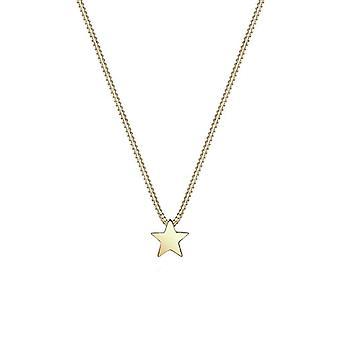 Elli Premium-halsband för damer hänge-silver 375-gult guld-Star Shape-0109870314_40