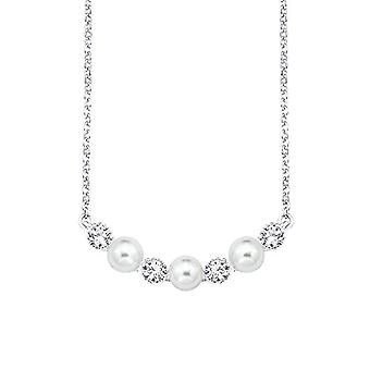 Amor 925 silver Cultivated Pearls d'white freshwater Zirconia cubic 9268375
