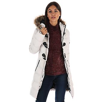 Womens Brave Soul Wizard Parka In Stone
