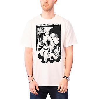 Bring Me The Horizon T Shirt Mens band logo Plague BMTH new Official White