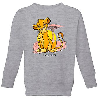 Disney Lion King Simba Pastel Kids' Sudadera - Gris