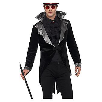 Herren Gothic Vampire Fancy Kleid Jacke Halloween
