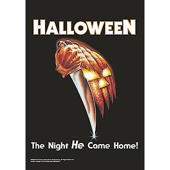 Halloween natten kom han hem stora tyg affisch/flagga 1050 x 750 mm (hr)