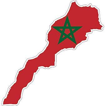 Pegatina Adhesif Coche Vinilo Bandera Marruecos Marruecos