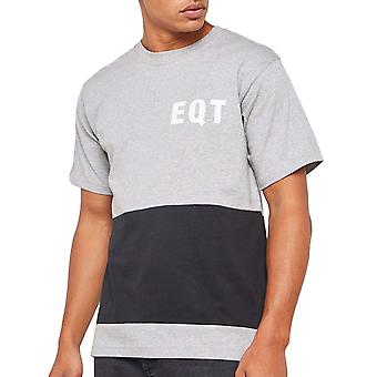 adidas Originals mens EQT Kortärmad Colourblock Crew Neck T-shirt topp-grå