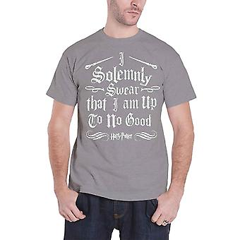 Harry Potter T Shirt I Solemnly Swear Logo Design Official Mens New Heather Grey