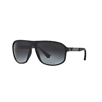 Emporio Armani EA4029 50638G Black Rubber/Grey Gradient Sunglasses
