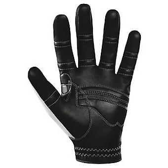 Biônico Mens RelaxGrip Black Palm Orthopedic Leather Golf Gloves - Branco - LH
