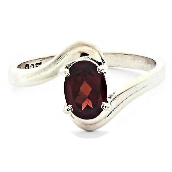Ring 925 Silber mit Granat 55 mm / Ø 17.5 mm (KLE-RI-003-52-(55))
