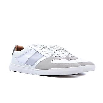 BOSS Cosmopool Tenn White Leather Trainers