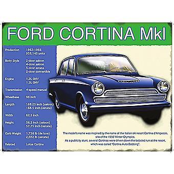 Ford Cortina Mk.1 dużych stali Zarejestruj 400 X 300 Mm