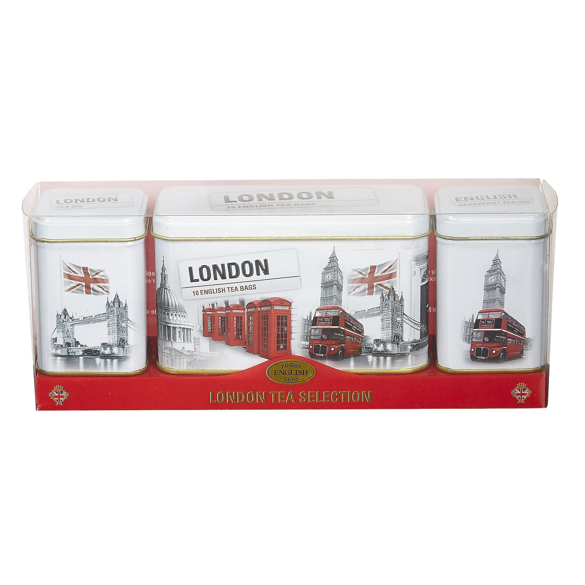 Black and white iconic london scenes tea selection triple gift pack