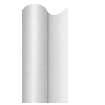 Swantex White Embossed Banquet Roll 25mtr