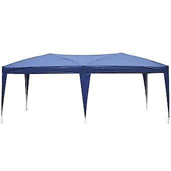 Outsunny 3 X 6M Heavy Duty Waterpoof UV Resistant Pop Up Gazebo Canopy Marquee Party Tent Wedding Awning Canopy w/ Carrying Bag (Blue)