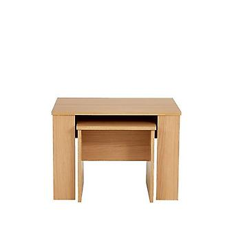 Madrid Oak-Effect Nest of 2 Tables RRP £85