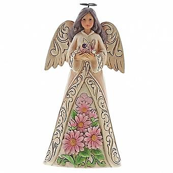 Jim Shore Heartwood Creek Birthstone Angel October