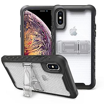 Nid d'abeilles transparent pour iPhone XS MAX Case,Armour Phone Cover,KickStand