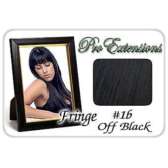 #1b pois musta Pro Fringe Clip otsa tukka