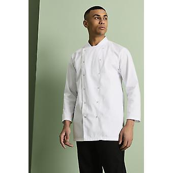SIMON JERSEY Unisex Long Sleeve Chef's Jacket, White
