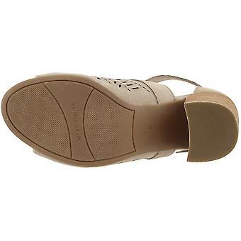 Marc Fisher Womens Geela Suede Open Toe Heel Sandals