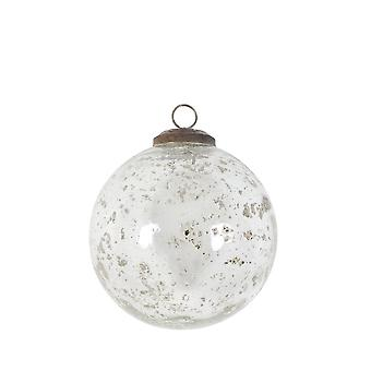 Lys & Levende Christmas Bauble 10cm Klar Glass Klar Stein