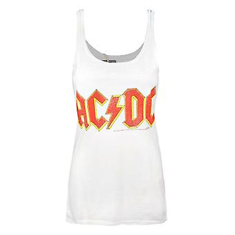 Amplified AC/DC Comics Logo White Women's Vest