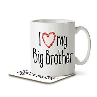 I Love My Big Brother - Mug and Coaster