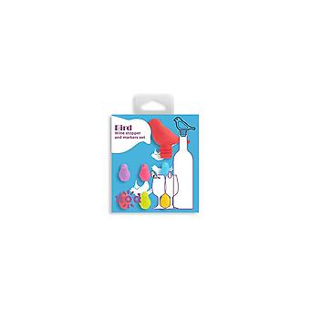 NOD Products 'Bird' Shaped Glass Markers & Stopper Set