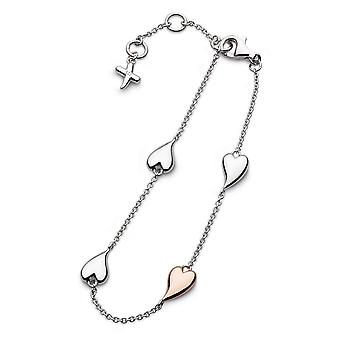 Kit Heath Desire Kiss Blush Heart 7.5'quot; Station Bracelet 70501RRP