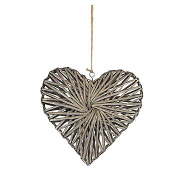 24cm Superior Heart Shaped Willow Decoration - Floristry Base