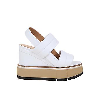 Paloma Barceló Fauna Women's White Leather Sandals
