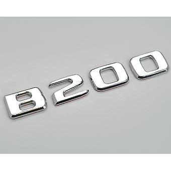 Silver Chrome B200 Flat Mercedes Benz Car Model Numbers Letters Badge Emblem For B Class W245 W246 W247 AMG