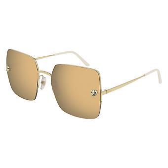 Cartier Panthère de Cartier CT0121S 001 Gold/Gold Mirror Sunglasses