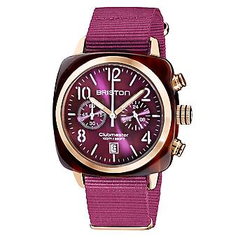 Briston 19140.PRA.T.32.NC Clubmaster Classic Purple Wristwatch