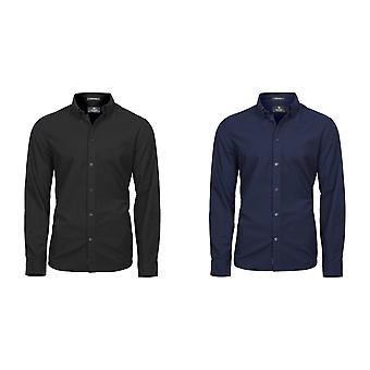 Tee Jays Mens urbain Oxford manches longues