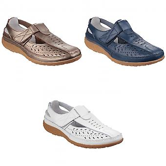Fleet & Foster Womens/Ladies Pinot Perforated Touch Fasten Sandals