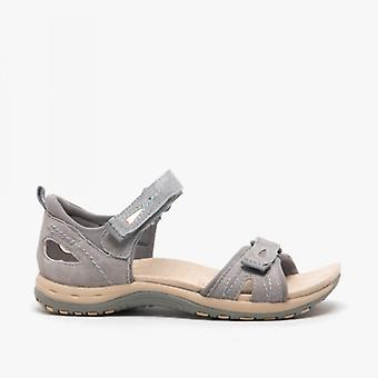 Earth Spirit Savannah Ladies Suede Sandals Frost Grey