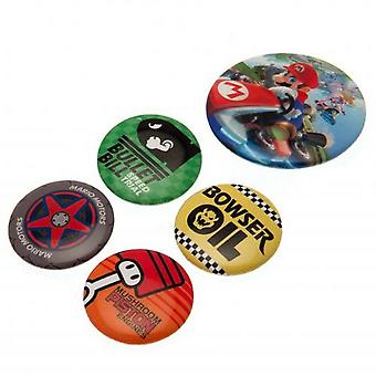 Mario Kart 8 Button Badge Set (Pack Of 5)