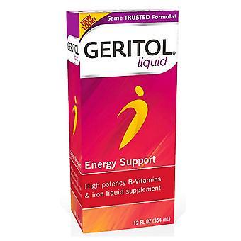 Geritol liquid energy support, vitamin & iron supplement, 12 oz