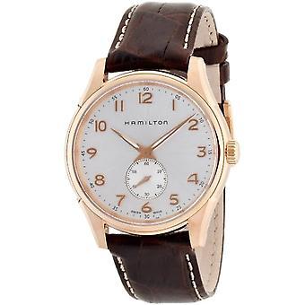 Hamilton analoog kwarts mannen horloge met lederen H38441553