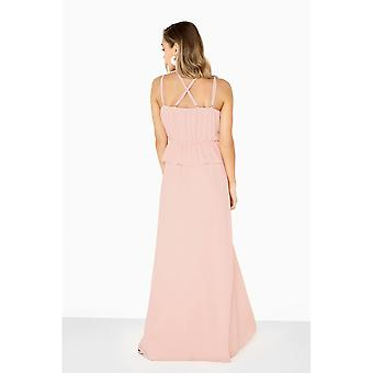 Girls On Film Womens/Ladies Frill Front Strappy Maxi Dress
