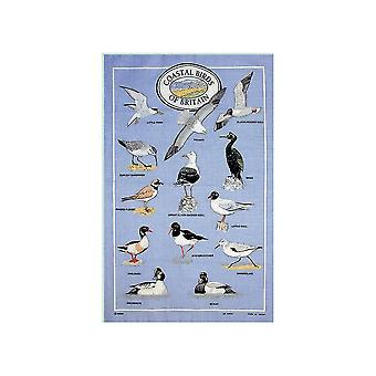 Stow Green Coastal Birds Of Britain Tea Towel